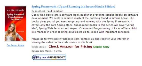Amazon Affiliate Product WordPress Plugin